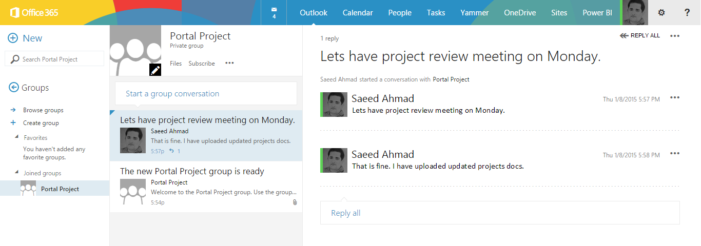 how to close office 365 yammer group